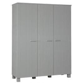 Hoorns Světle šedá dřevěná skříň Koben 203 x 158 cm