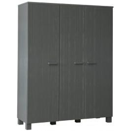 Hoorns Tmavě šedá dřevěná skříň Koben 158 cm