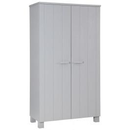 Hoorns Světle šedá dřevěná skříň Koben 111 cm