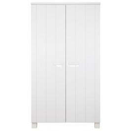 Hoorns Bílá dřevěná skříň Koben 111 cm