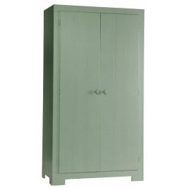 Hoorns Zelená masivní šatní skříň Warde