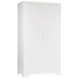 Hoorns Bílá masivní šatní skříň Warde