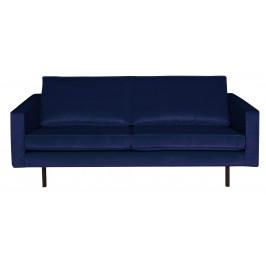 Hoorns Tmavě modrá sametová pohovka Raden 190 cm