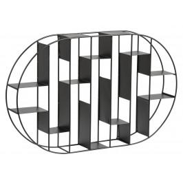SCANDI Černý kovový nástěnný regál Gerald