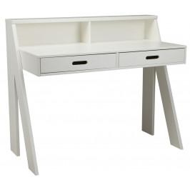 Hoorns Bílý masivní pracovní stůl Ernie 112 cm
