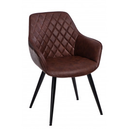Culty Hnědá židle Rox z ekologické kůže