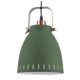 Time for home Zelené kovové závěsné světlo Lash, 21 cm