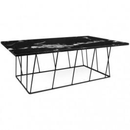 Porto Deco Konferenční stolek Rofus, černá podnož, černý mramor