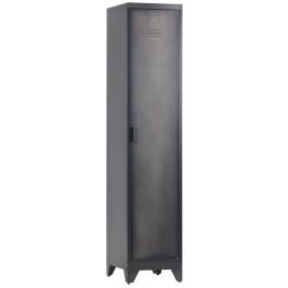 Hoorns Černá kovová skříňka Gym 180 cm