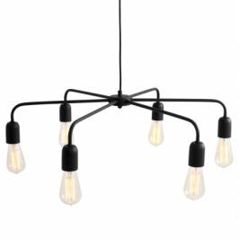 Nordic Design Závěsné světlo Cros 6, černá