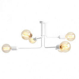 Nordic Design Bílé kovové závěsné světlo Trimo 29 cm