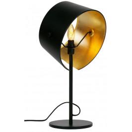 Hoorns Černá kovová stolní lampa Loma