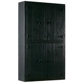 Hoorns Černá masivní šatní skříň Hogni