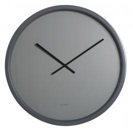 Nástěnné šedé minimalistické hodiny ZUIVER BANDIT