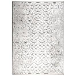 Světle šedý koberec ZUIVER YENGA 160x230 cm s černými vzory
