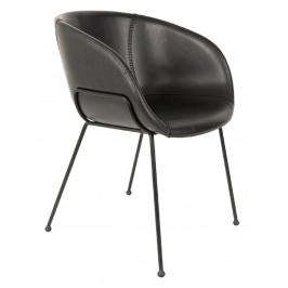 Černá jídelní židle ZUIVER FESTON
