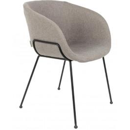 Šedá čalouněná jídelní židle ZUIVER FESTON