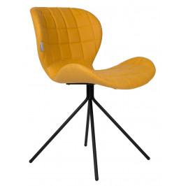 Žlutá jídelní židle ZUIVER OMG LL