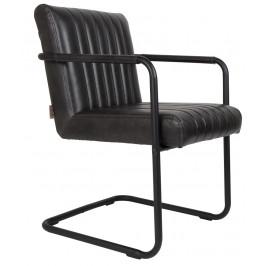 Černá jídelní židle DUTCHBONE Stitched