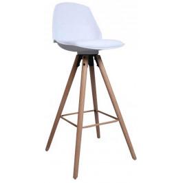 SCANDI Bílá plastová barová židle Hannah 63 cm