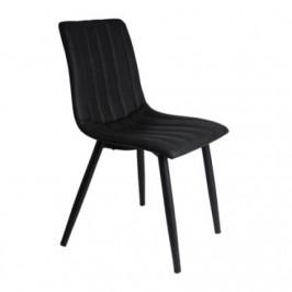Time for home Jídelní židle Karen, černá ekokůže