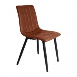 Time for home Jídelní židle Karen, světle hnědá ekokůže