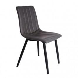 Time for home Jídelní židle Karen, šedá ekokůže