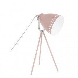 Time for home Růžová kovová stolní lampa Lash II se stříbrným detailem