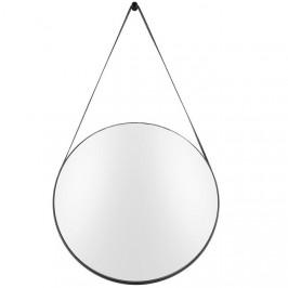 Time for home Černé závěsné zrcadlo Grimo 47 cm