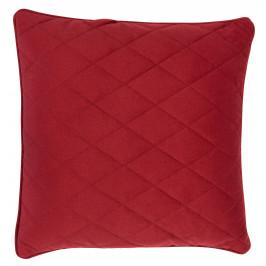 Červený polštář ZUIVER DIAMOND s prošíváním