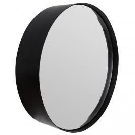 White Label Living Černé závěsné zrcadlo WLL Raj Small O 36 cm
