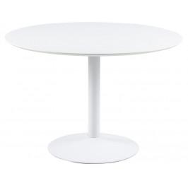SCANDI Bílý jídelní stůl Kreon 110 cm