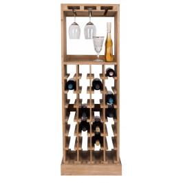 Hnědá komoda na víno DUTCHBONE CLAUDE 120 cm