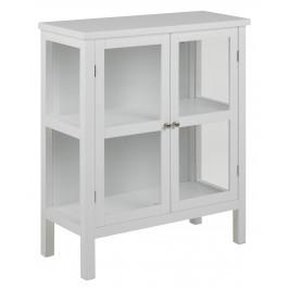 SCANDI Bílá dřevěná vitrína Marion 99 cm