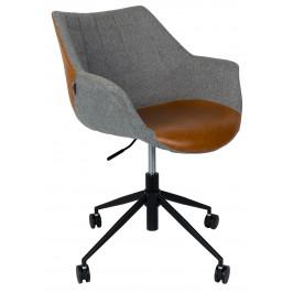 Šedohnědá kancelářská židle ZUIVER DOULTON