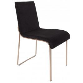 Černá čalouněná jídelní židle DUTCHBONE FLOR