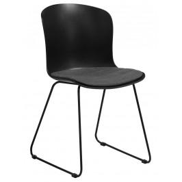 SCANDI Černá plastová jídelní židle Mantra