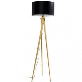Lifelight Stojací lampa LF 14, přírodní podnož, černá