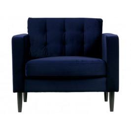 Hoorns Tmavě modré křeslo Comfia