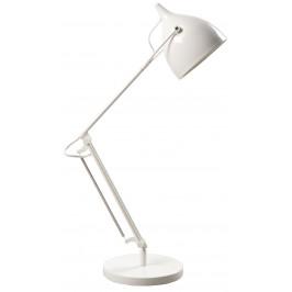 Bílá kovová stolní lampa ZUIVER READER