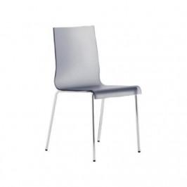 Pedrali Transparentní kouřová jídelní židle Kuadra
