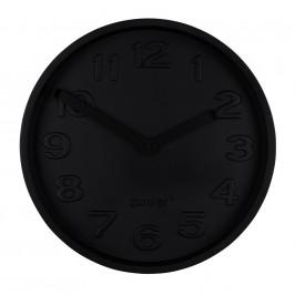 Černé nástěnné hodiny ZUIVER CONCRETE TIME z betonu