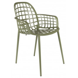 Zelená stohovatelná kovová židle ZUIVER ALBERT KUIP GARDEN