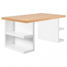 Porto Deco Kancelářský stůl Antonio II. 160 cm, bílá/dub