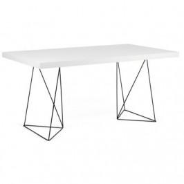 Porto Deco Kancelářský stůl Antonio 180 cm, černá/bílá