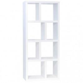 Porto Deco Designová knihovna Castelo 4 70 cm, matná bílá