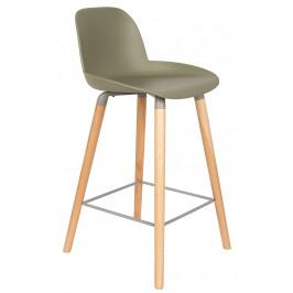 Zelená barová židle ZUIVER ALBERT KUIP 65 cm