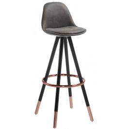 Tmavě šedá barová židle LaForma Stag