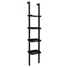 SCANDI Černý nástěnný regál Leero 36,5 cm