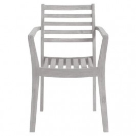 Světle šedá masivní zahradní židle LaForma Berkeley